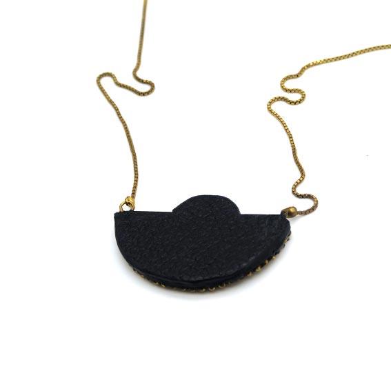 bijoux créateur Lyon collier broderie style art déco