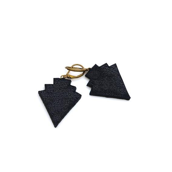 bijoux créateur Lyon boucles d'oreilles style art déco