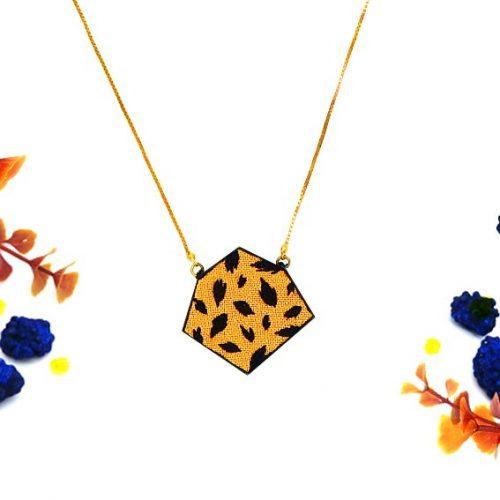 bijoux créateur Lyon collier motif léopard panthère