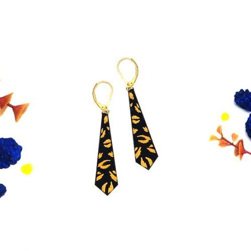 bijoux créateur Lyon boucles d'oreilles motif léopard