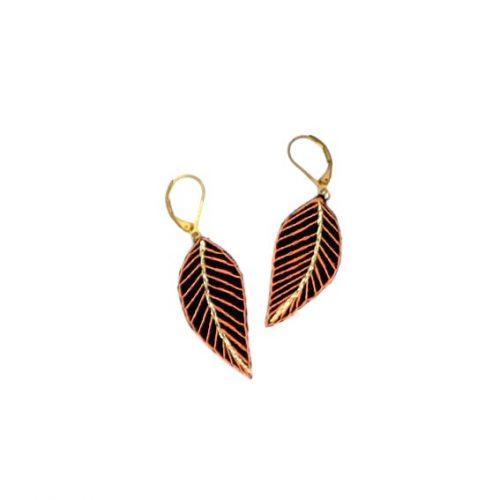 bijoux créateurs Lyon boucles d'oreilles plume style bohème