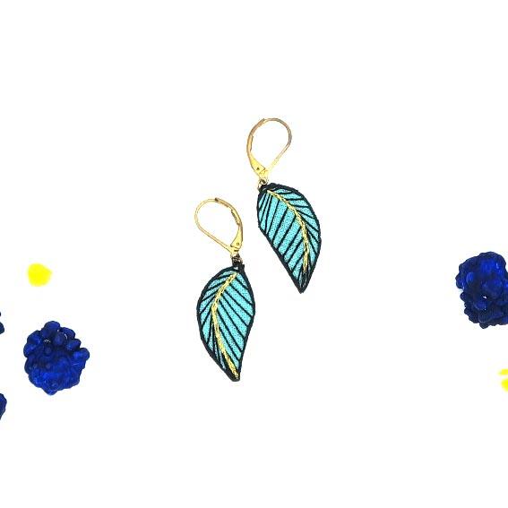 bijoux créateurs Lyon boucle d'oreille plume