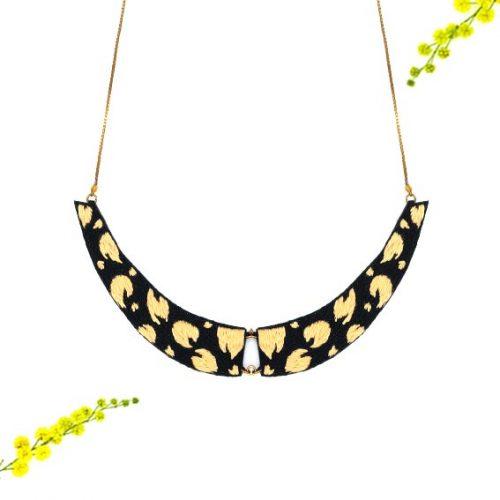 collier plastron bijou créateur lyon léopard panthère
