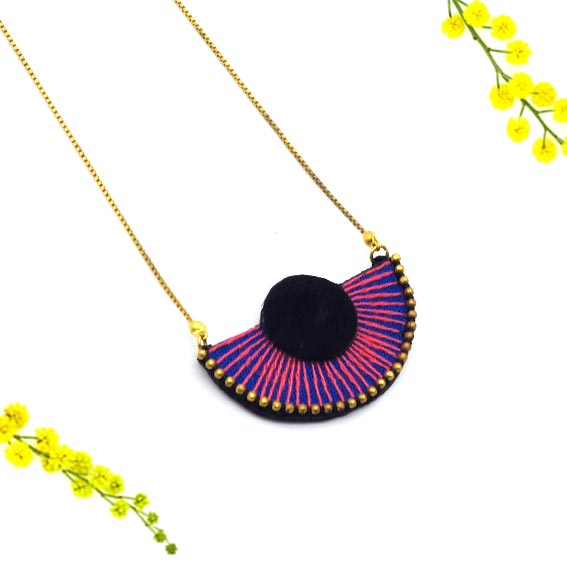 bijoux créateur lyon collier rouge or