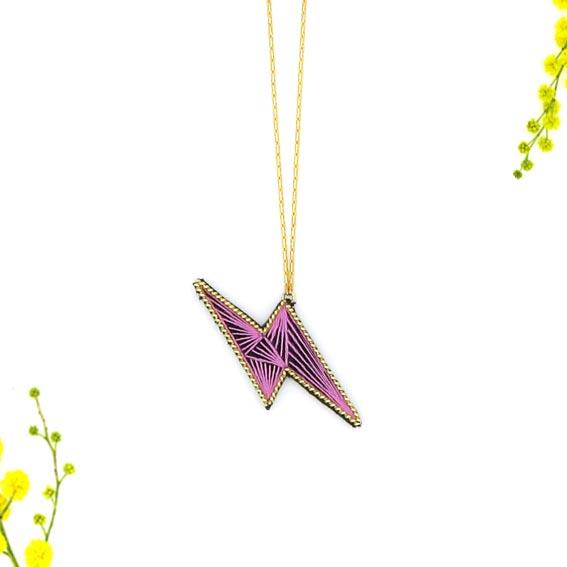 bijoux créateur Lyon collier éclair