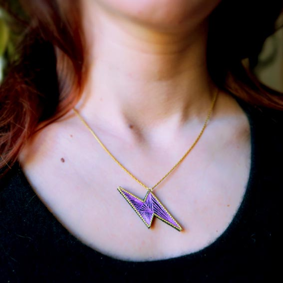 bijoux créateur Lyon collier plastron
