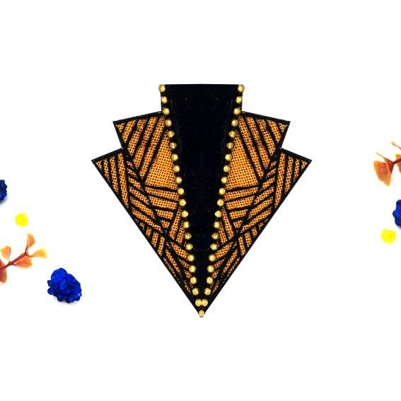 broderie moderne broche brodée bijou créateur lyon
